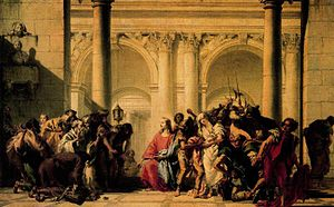 Christ with the Woman Taken in Adultery, o/t, ...