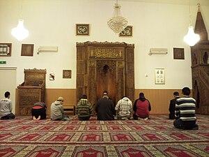 Interior of the Krekelstraat Mosque, Nijmegen,...
