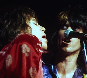 English: Mick Jagger and Keith Richards in 197...