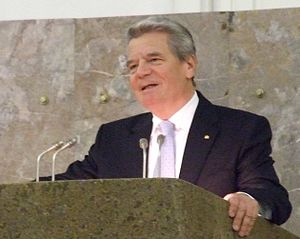 "English: Joachim Gauck, at ""Paulskirche&q..."