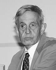 John Nash at a symposium of game theory at the University of Cologne, Germany (2006)