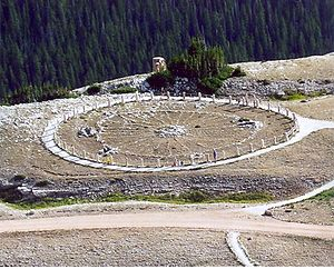 Medicine Wheel, a Native American sacred site ...