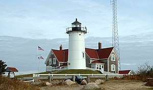 English: The Nobska Lighthouse, Falmouth, Mass...