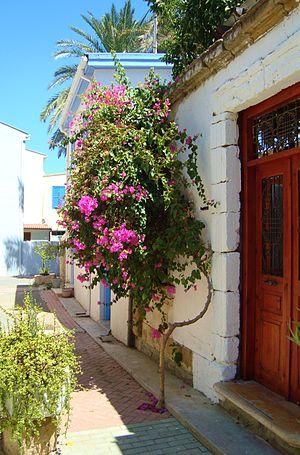 English: Old house in Nicosia old quarter Repu...