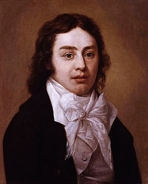 Samuel Taylor Coleridge in 1795, by Peter Vandyke