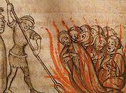 Templieri arşi pe rug