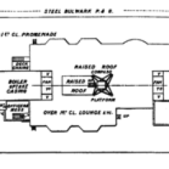 Titanic Class Diagram 4 Pin Relay Spotlight Wiring Lifeboats Of The Rms Wikipedia Plan Boat Deck Showing Location Main Are Marked In Green While Emergency Cutters