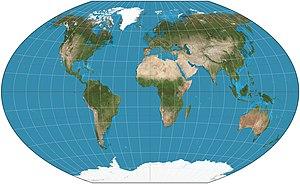 English: The world on Winkel triple projection...