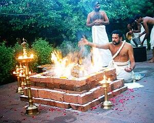 """haviryajna done by a Nambudiri in Kerala..."