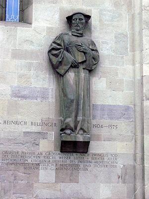 Heinrich Bullinger von Otto Bänninger an der F...