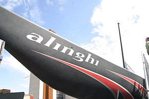 Alinghi on display at the EPFL, 30th of August...