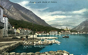 English: Postcard of Austro-Hungary, Kotor/Cat...
