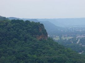 A picture of a bluff, taken in La Crosse, WI