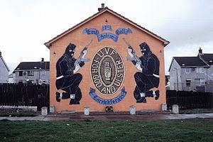 A UVF mural in Carrickfergus