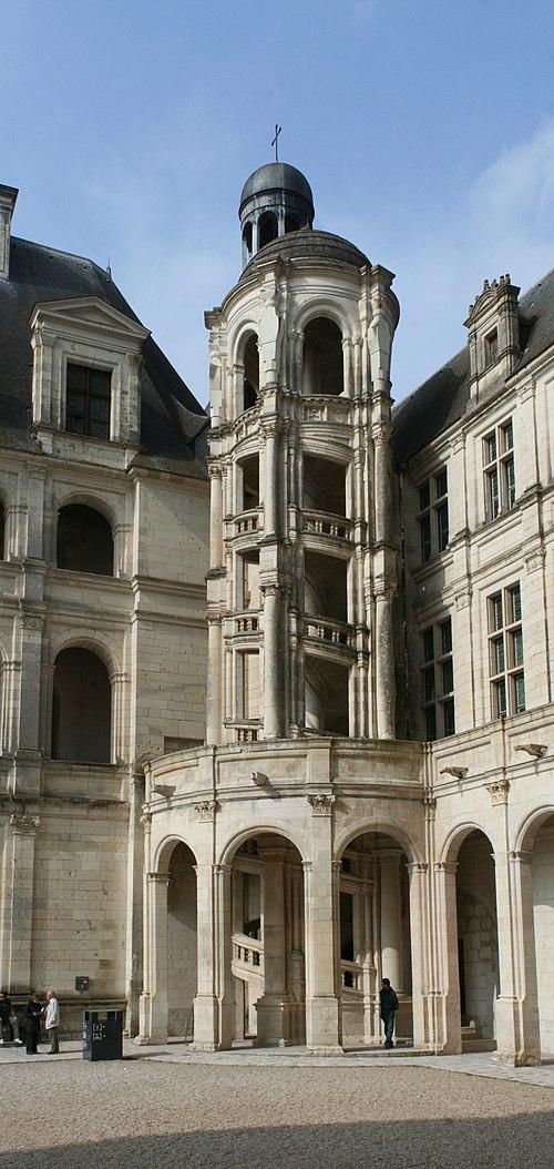 Château de Chambord - escalier hors-œuvre