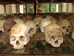 Stela of skulls, Cheung Ek Killing Fields site...