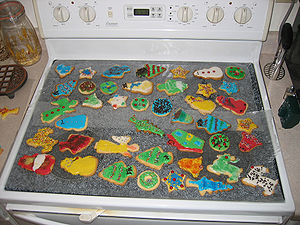 Christmas cookies that Yvette and I decorated.