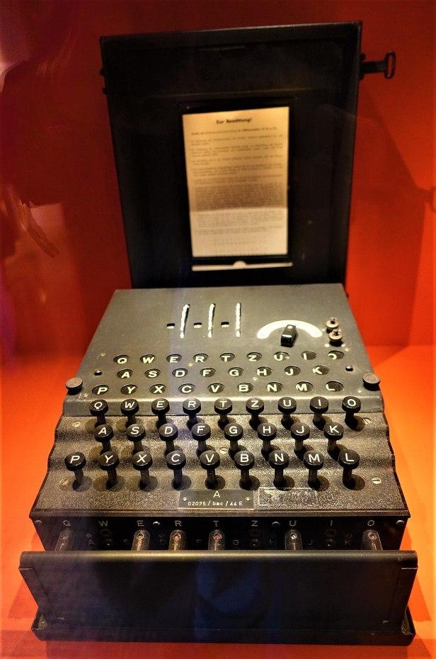 Enigma Cipher Machine - www.joyofmuseums.com - International Spy Museum