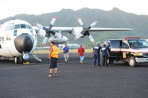 FEMA - 42085 - Coast Guard plane in American Samoa