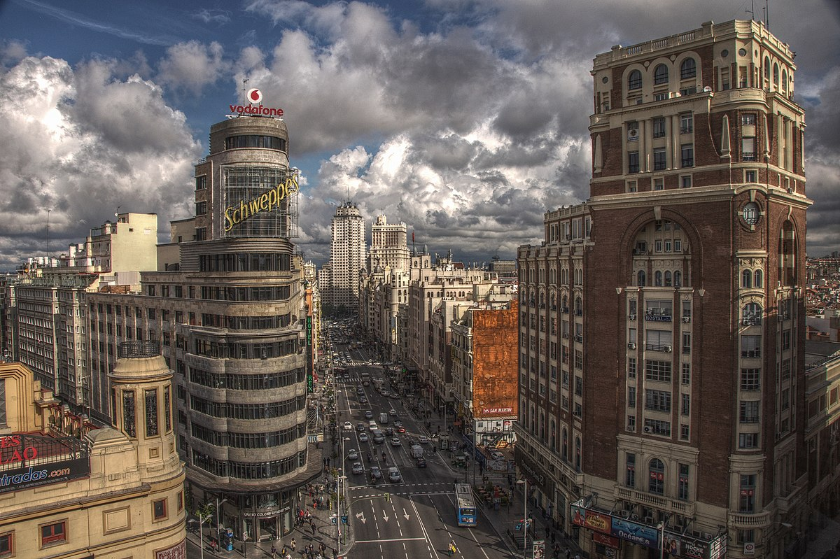 Cuadro Madrid Gran Via Madrid Wikipedia