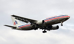 English: A newer model American Airlines Airbu...