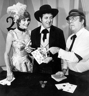 Publicity photo of Carol Merrill, Monty Hall a...