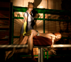 3D BDSM artwork illustrating bondage/discipline