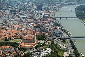 English: Bratislava, Slovakia, aerial photogra...