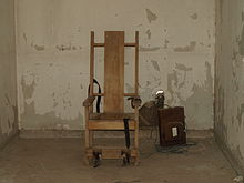 electric chair was invented by vintage wooden folding chairs wikipedia the former louisiana execution chamber at red hat cell block in state penitentiary west feliciana parish is a replica