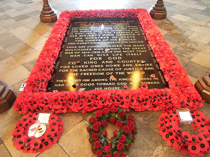 File:Tomb of the Unknown Warrior - Westminster Abbey - London, England - 9 Nov. 2010.jpg