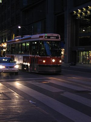 Toronto Street at night, including one of the ...