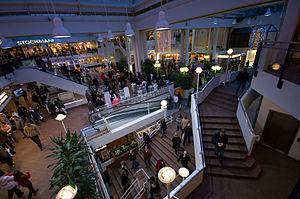 Christmas shopping at Hansa shopping center in...