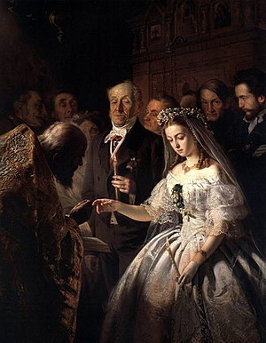 The Arranged Marriage (173 x 136.5 cm The Stat...