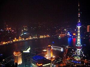 Xangai - Barri de Pudong de nit