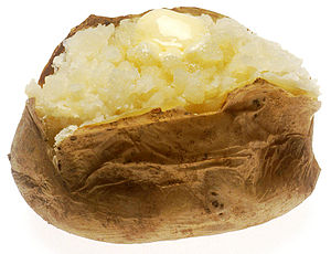 baked potato with butter on doctorfoodtruth