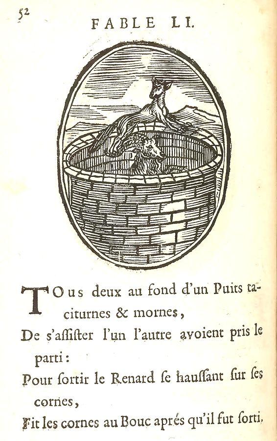 Le Renard Et Le Bouc : renard, Trente-six, Fables, D'Ésope/Le, Renard, Wikiversité