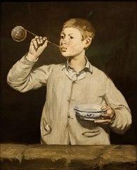 Boy Blowing Bubbles Edouard Manet