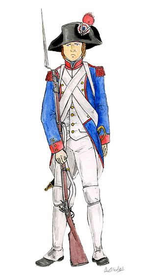 Fusilier de ligne français, Révolution française