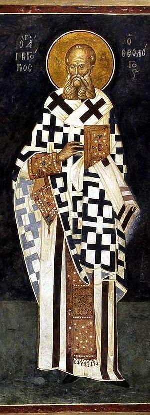 Gregory the Theologian (Fresco from Kariye Cam...