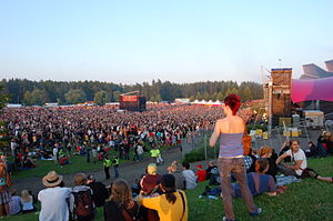 English: Main stage area of Ilosaarirock (2007...