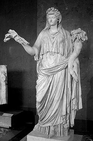 Livia Drusilla, standing marble sculpture as O...