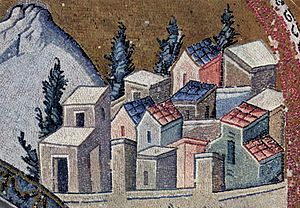 Ancient mosaic of Nazareth