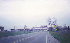 An overpass for Michigan International Speedwa...
