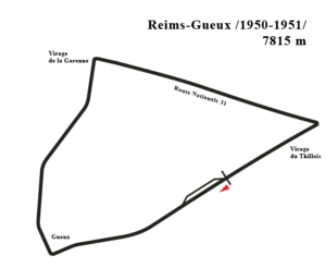 English: Diagram of the Reims circuit after mo...