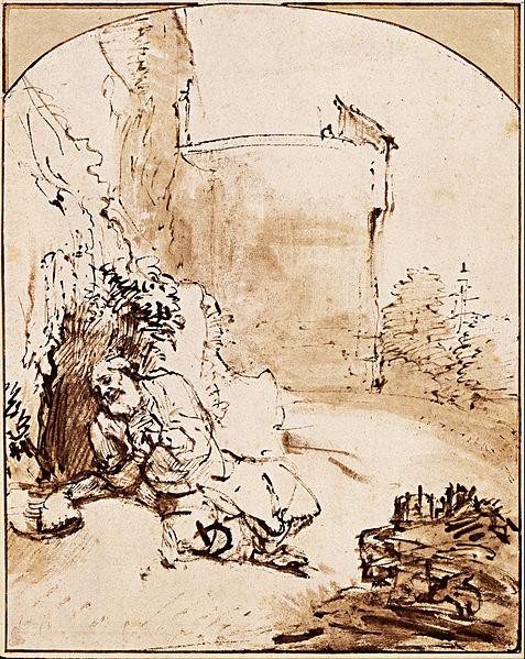 File:Rembrandt Harmenszoon van Rijn - The Prophet Jonah before the Walls of Nineveh, c. 1655 - Google Art Project.jpg