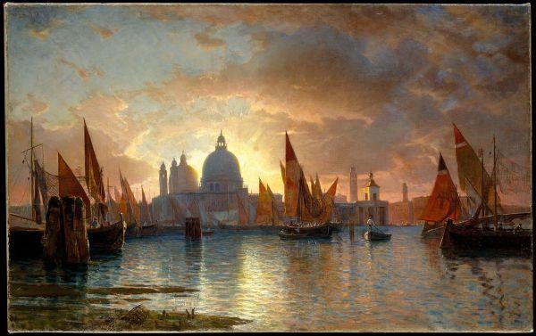 File Santa Maria Della Salute Sunset. Oil Canvas