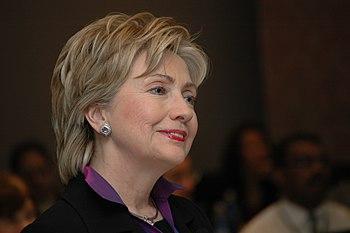 Frontrunner Hillary Clinton got into a heated ...
