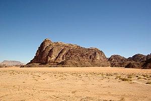 """English: Wadi Rum, the """"Seven Pillars of ..."""