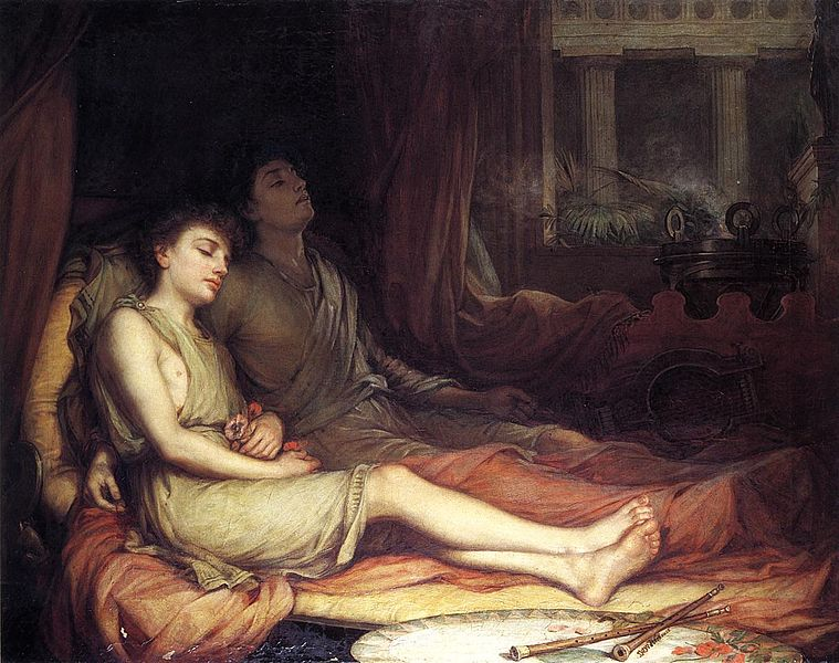 Hypnos and Thanatos, Sleep and His Half-Brother Death, an 1874 painting by John William Waterhouse