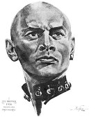 Yul Brynner 1956 drawing